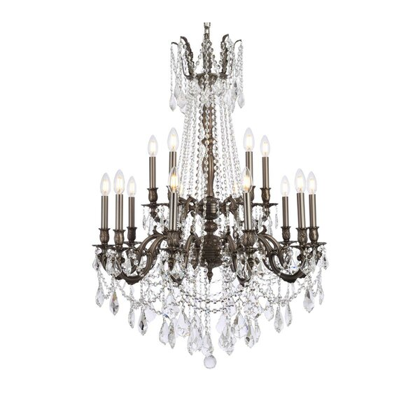 Utica 15 - Light Candle Style Tiered Chandelier With Crystal Accents By Astoria Grand