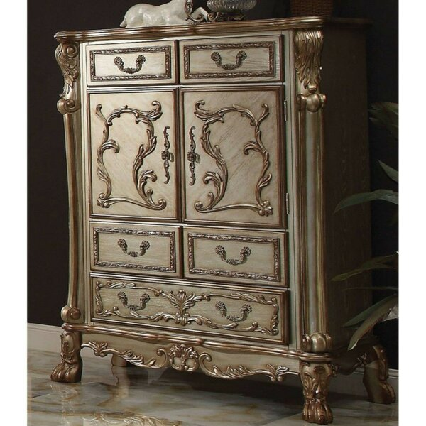 Twitchell Wooden 5 Drawer Chest by Astoria Grand