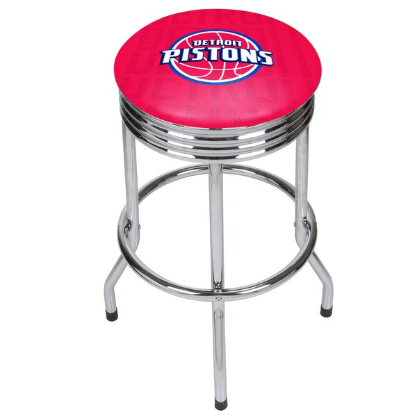 NBA City Ribbed 29 Swivel Bar Stool by Trademark G