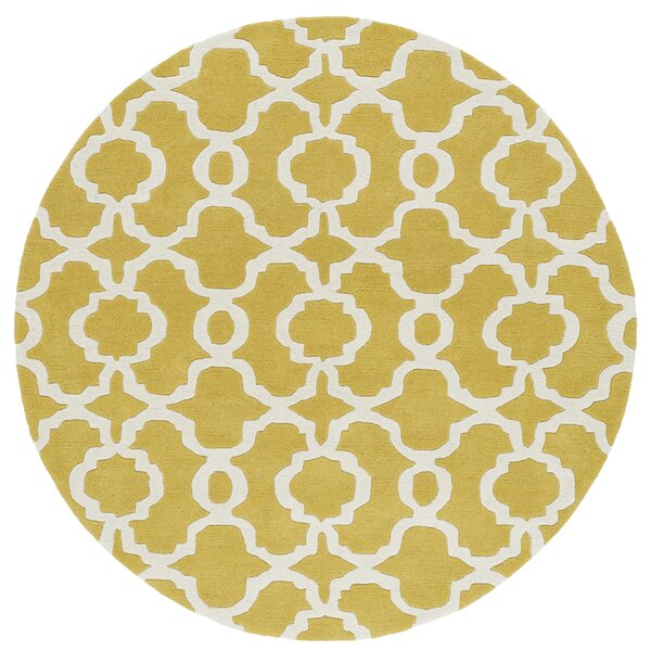 Molly Hand-Tufted Yellow / Ivory Area Rug by Ivy Bronx