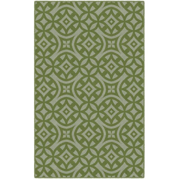 Mendoza Trellis Green Area Rug by World Menagerie