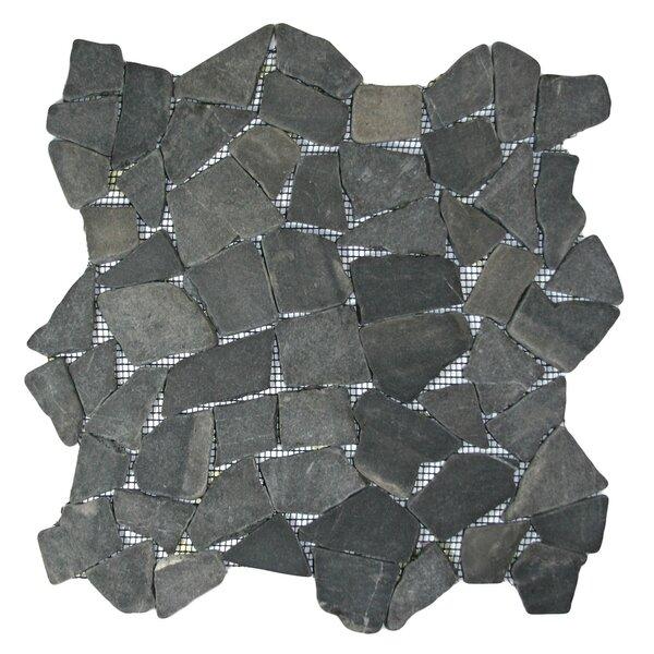 Banyak Random Sized Natural Stone Mosaic Tile in Gray