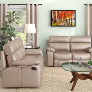 Mellor 2 Piece Leather Reclining Living Room Set by Red Barrel Studio®