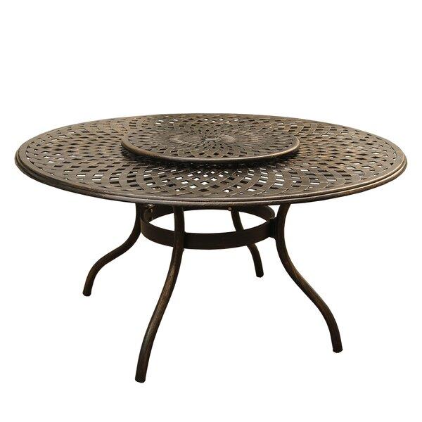 Cascio Outdoor Mesh Lattice Dining Table by Fleur De Lis Living