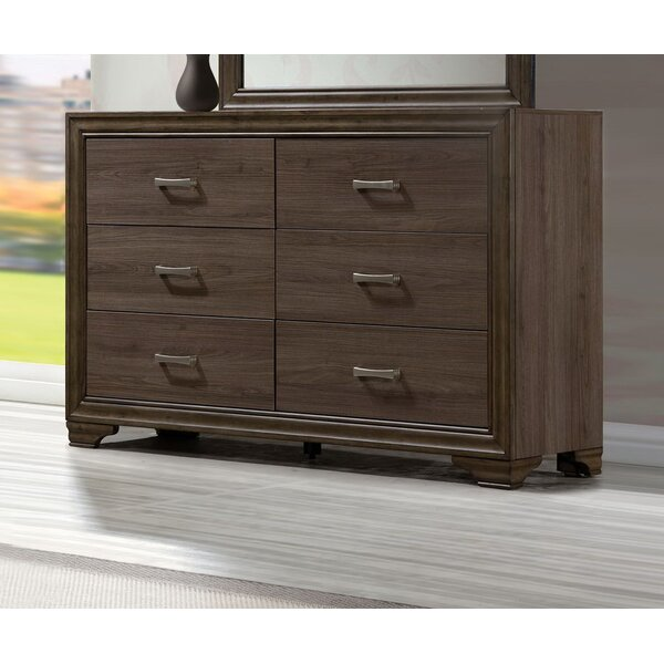 Layla 6 Drawers Double Dresser by Foundry Select