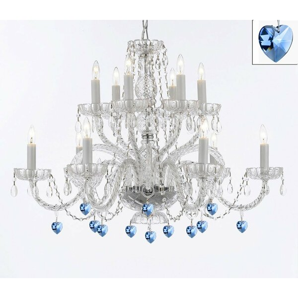 Bowerville 12-Light Candle Style Tiered Chandelier by Rosdorf Park Rosdorf Park