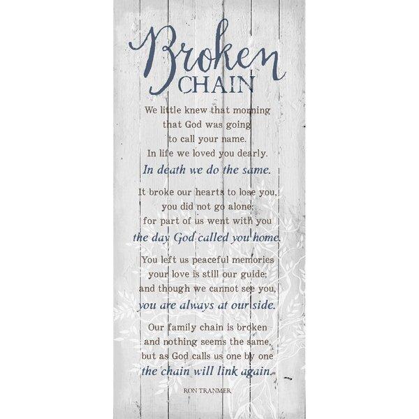 Broken Chain… Textual Art Plaque by Dexsa