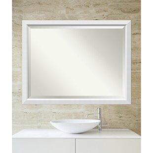 Latitude Run Rectangle White Accent Mirror