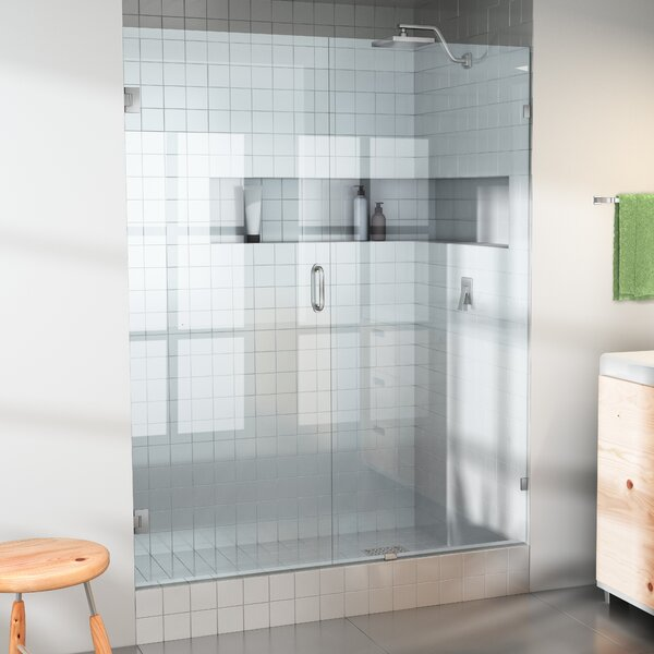 61.5 x 78 Hinged Frameless Shower Door by Glass Warehouse