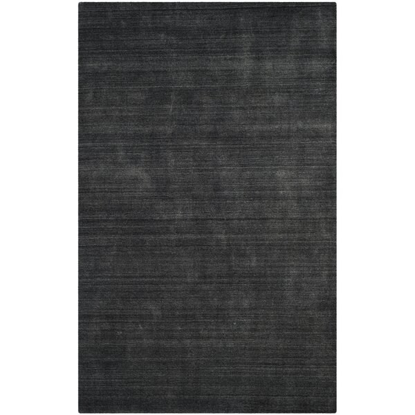 Leontine Hand-Loomed Charcoal Area Rug by 17 Stories