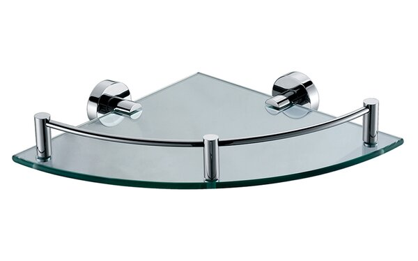 ALFI brand AB9546 Polished Chrome Corner Mounted Glass Shower Shelf Bathroom Accessory by Alfi Brand