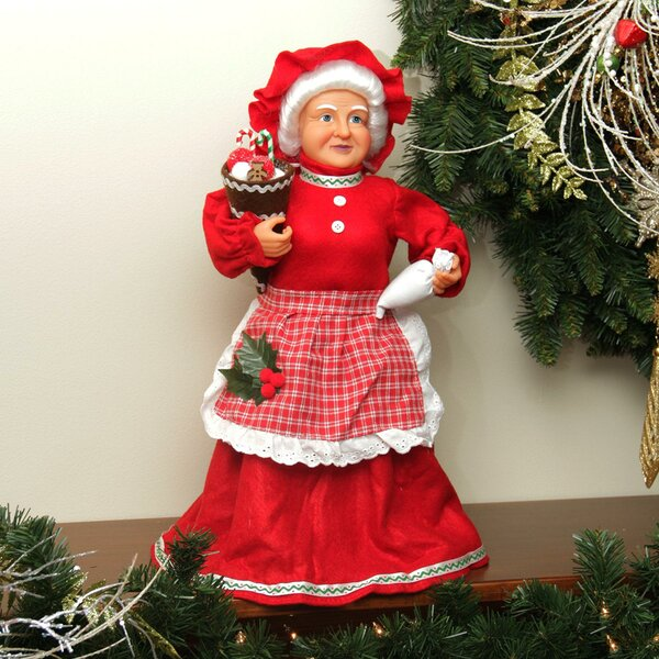 Mrs. Claus Baking Sweets Christmas Tree Topper or Table Top Decoration by Northlight Seasonal