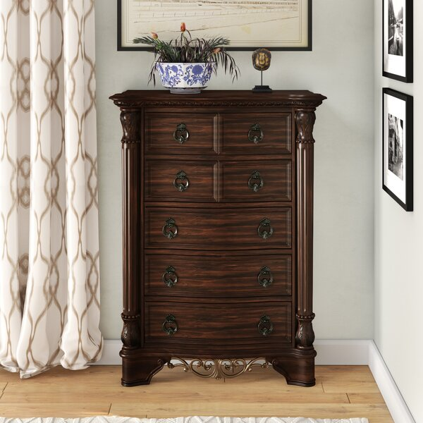 Caulfield 5 Drawer Chest by Fleur De Lis Living