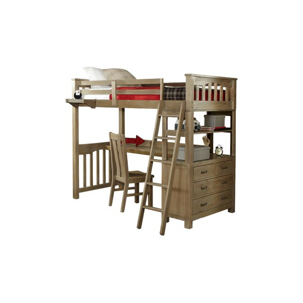 Timberville Loft Bed With Desk by Greyleigh