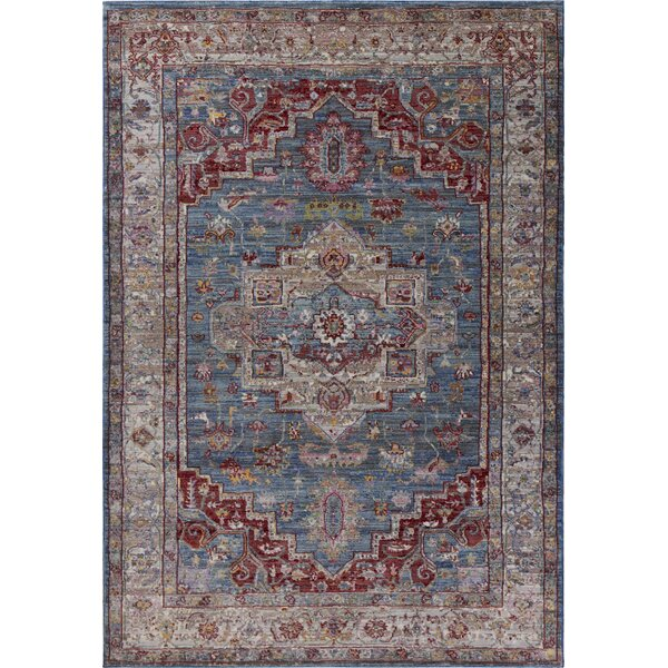 Vermillion Blue/Gray Area Rug by Charlton Home