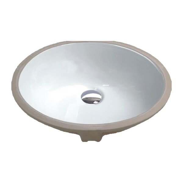 Rhodes Series Vitreous China Circular Undermount Bathroom Sink with Overflow by ANZZI