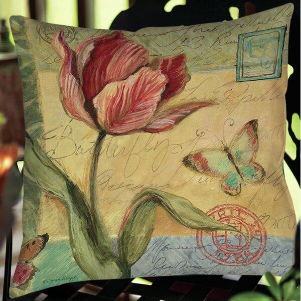 Loretta Tulip Indoor/Outdoor Throw Pillow by August Grove