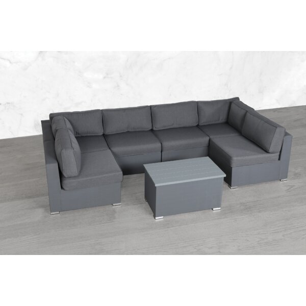 Fritsch Modular 7 Piece Sectional Seating Group with Cushions by Orren Ellis Orren Ellis