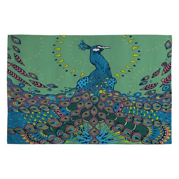 Geronimo Studio Handwoven Flatweave Blue Area Rug by Deny Designs