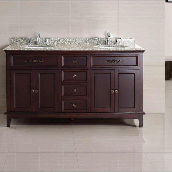 Dustin 60 Double Bathroom Vanity Set by Ove Decors