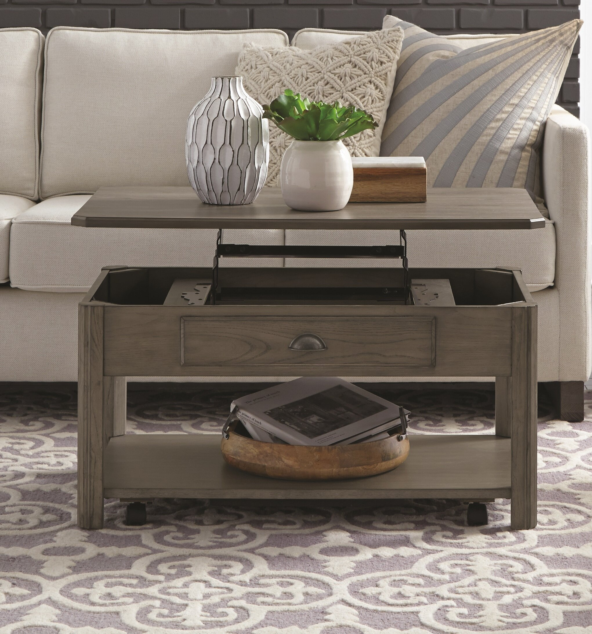 Darby Home Co Fernville Lift Top Coffee Table With Storage