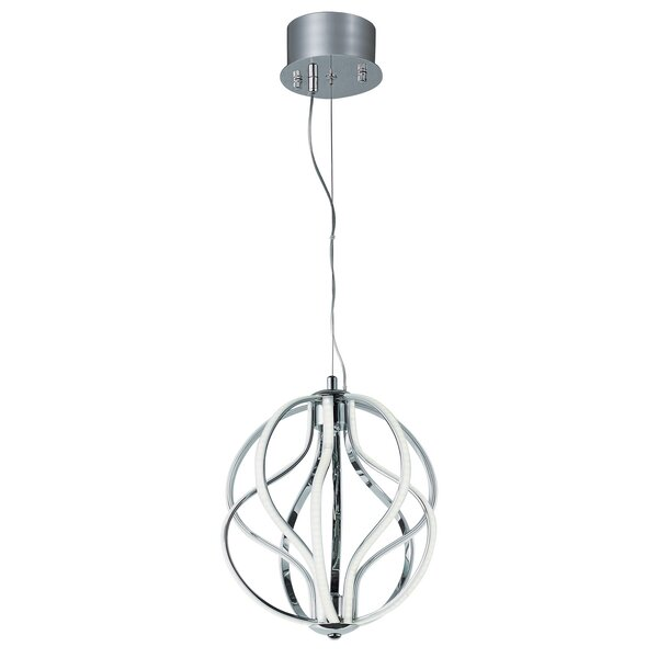 Fahey 10 - Light Unique / Statement Geometric LED Chandelier With Crystal Accents By Orren Ellis