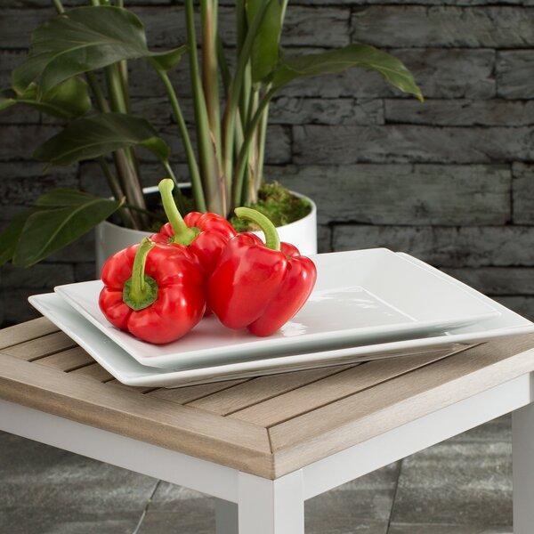 Lowrys 2 Piece Porcelain Serving Platter Set by Mint Pantry