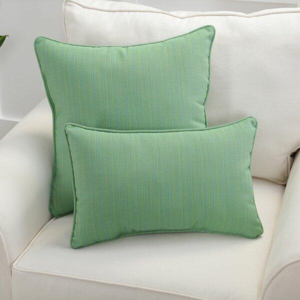 Stricker Indoor/Outdoor Sunbrella Dupione Paradise Lumbar Pillow (Set of 2)