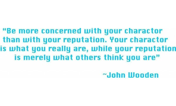 Be More Concerned With Your Character - John Wooden Quote Wall Decal by Design With Vinyl