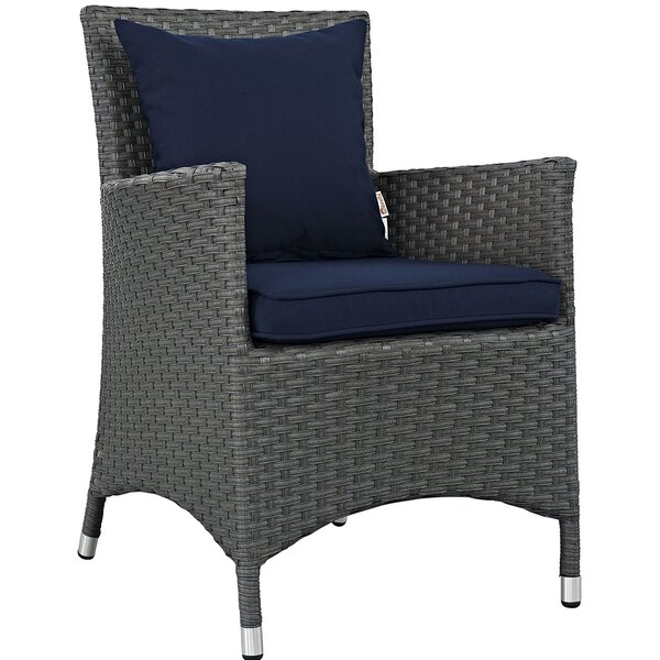Tripp Patio Dining Chair with Cushion by Brayden Studio