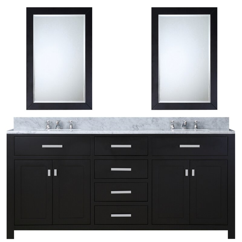 Andover Mills Raven Double Bathroom Vanity Set With Mirror - Bathroom vanities naperville