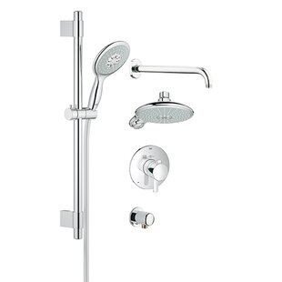Reviews GrohFlex Thermostatic Shower System - Includes Trim, Shower Head, Hand Shower, Shower Arm, Hose and Wall Supply ByGrohe