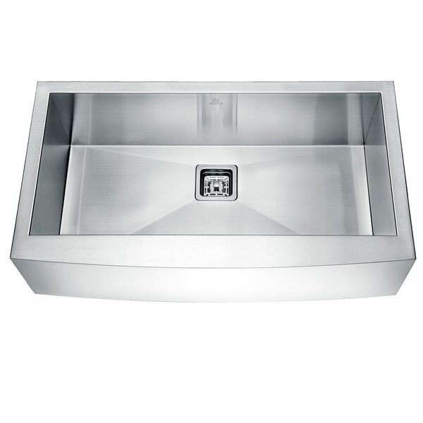 Elysian Stainless Steel 33 L x 21 W Farmhouse Kitchen Sink with Drain Assembly by ANZZI