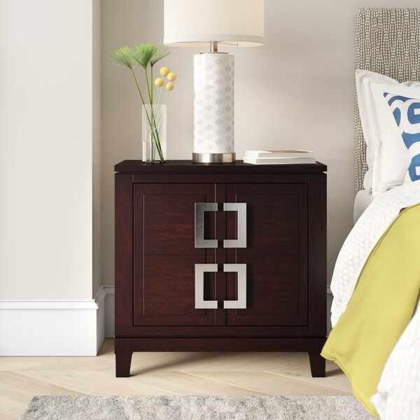 Toulon 2 Drawer Nightstand by Latitude Run