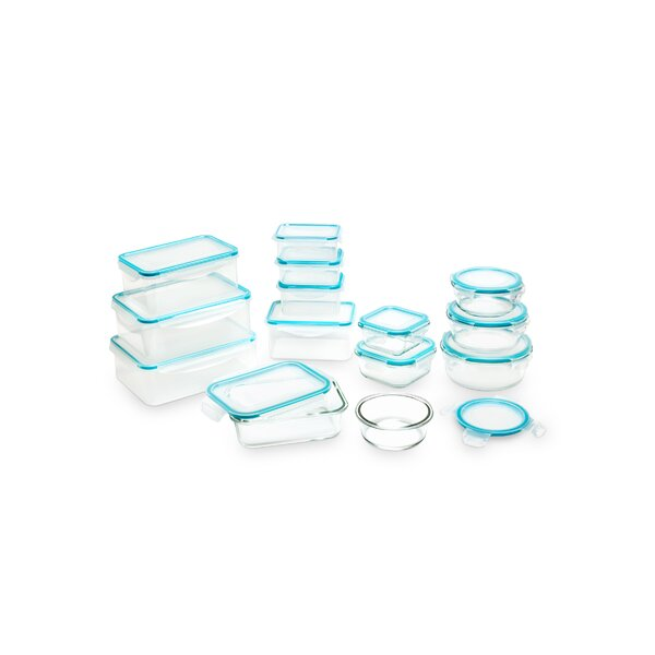 Virginia Seal Fresh Glass and Plastic 15 Container Food Storage Set by Rebrilliant