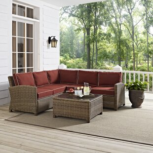 Middlesex 4 Piece Sectional Set with Cushions By Breakwater Bay
