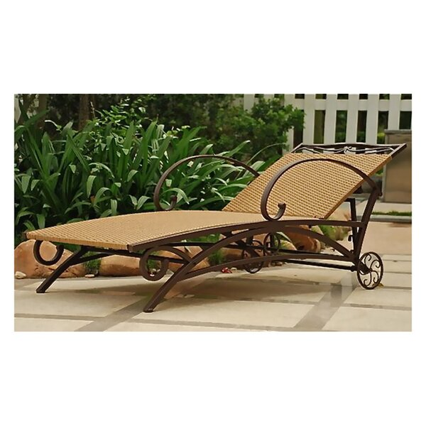 Stapleton Outdoor Reclining Chaise Lounge by Charlton Home Charlton Home