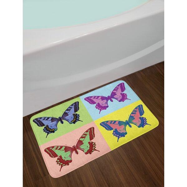 Pop Butterfly Bath Rug by East Urban Home