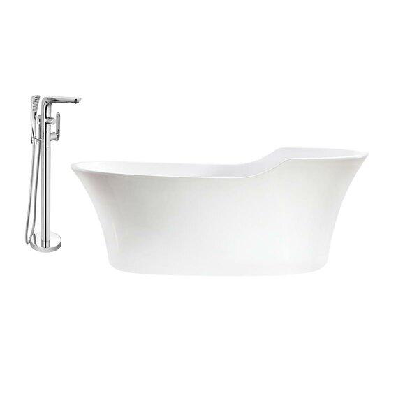 68 x 32 Freestanding Soaking Bathtub by Streamline Bath