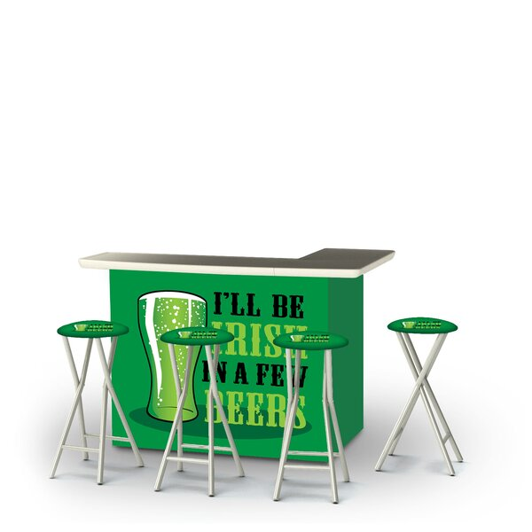 Allenville St Patricks Day Irish Beers 5-Piece Bar Set by East Urban Home