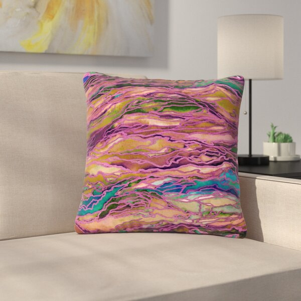 Ebi Emporium Marble Idea! Painting Outdoor Throw Pillow by East Urban Home