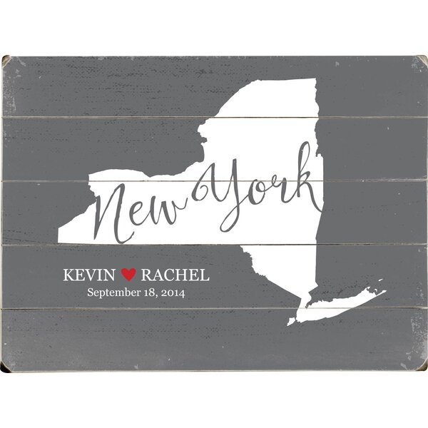 Personalized New York Textual Art Multi-Piece Image on Wood by Artehouse LLC