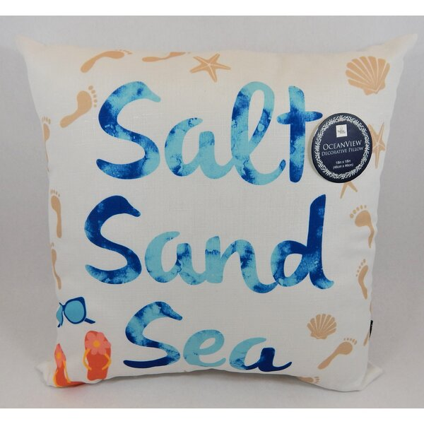 Lolita Salt Sand Sea Throw Pillow by Highland Dunes