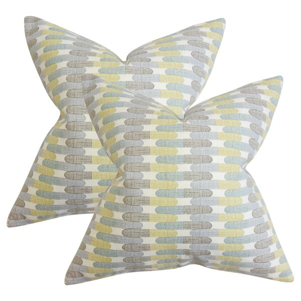Julianne Geometric Cotton Throw Pillow (Set of 2) by Corrigan Studio