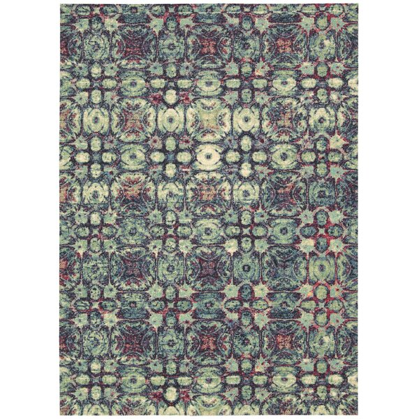 Appian Blue Area Rug by Bungalow Rose