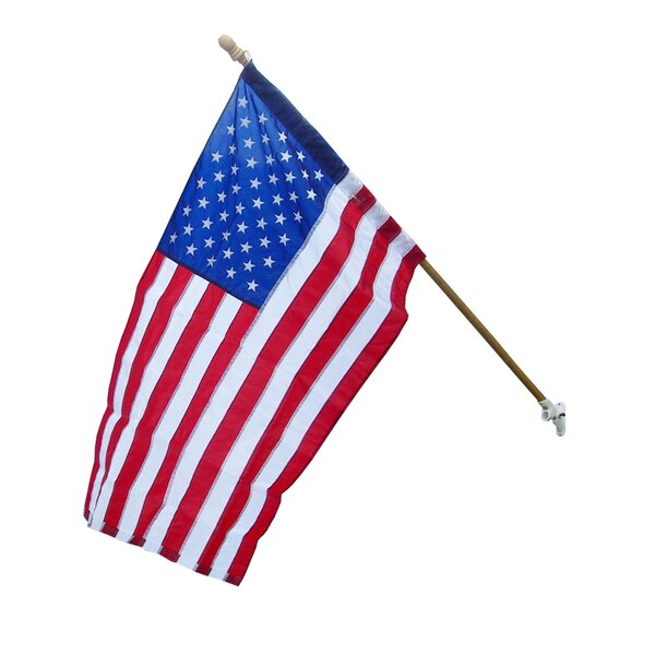 American 2-Sided Nylon 2.5 x 4 ft. Rectangle Flag by Olympus Flag and Banner