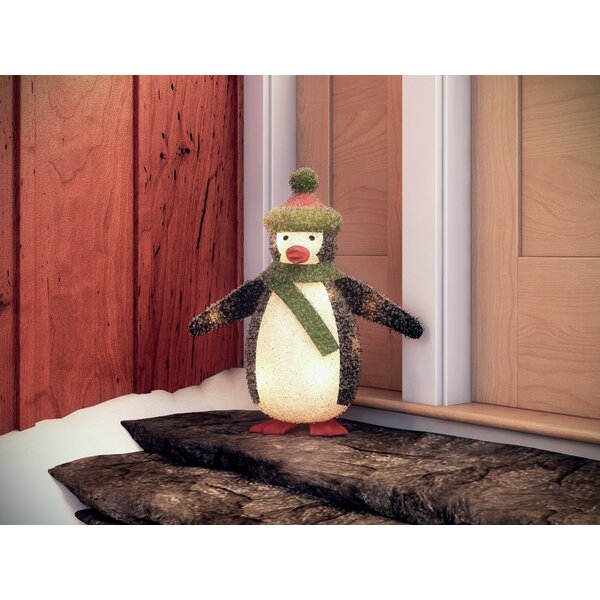 Penguin Christmas Decoration with 35 Clear Lights by Three Posts
