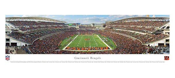 NFL End Zone Photographic Print by Blakeway Worldwide Panoramas, Inc