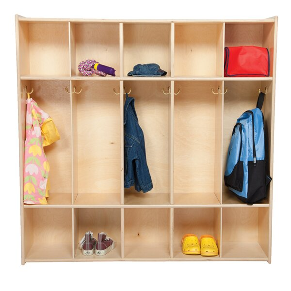 Contender 3 Tier 5 Wide Coat Locker by Wood Designs