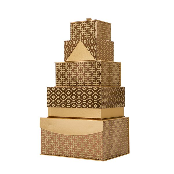 Gift 5 Piece Decorative Box Set by The Holiday Aisle